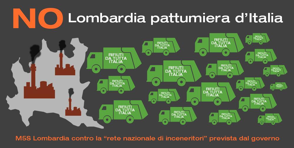 """M5S Lombardia, la rete nazionale inceneritori è """"una porcata"""""""