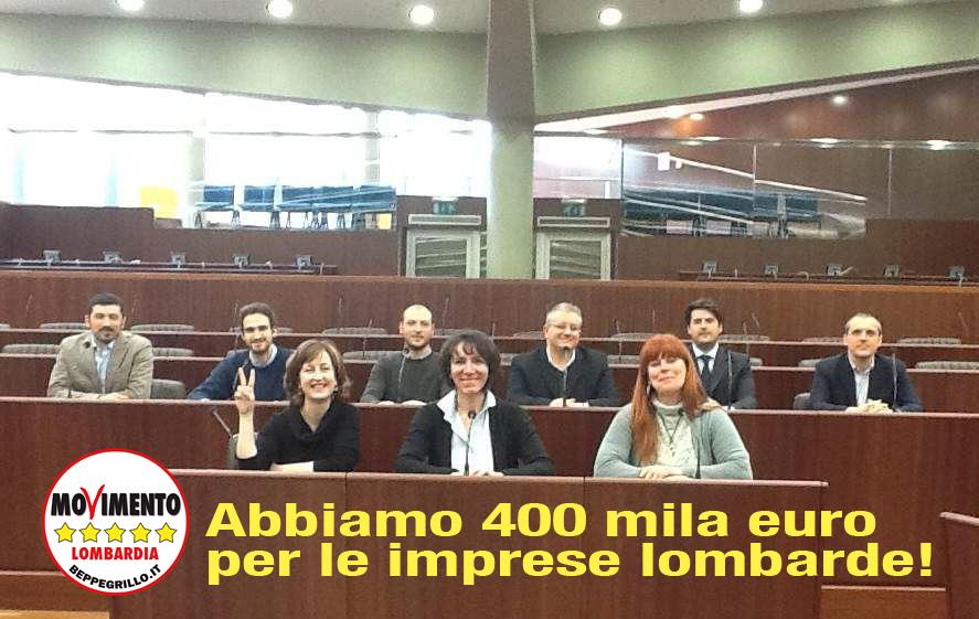 Bilancio: pronti 400 mila euro per le PMI. Maroni non ci impedisca di restituire denaro pubblico.