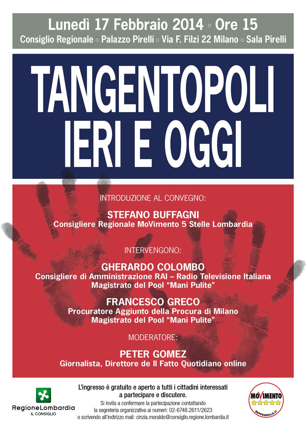 Convegno: Tangentopoli ieri e oggi – 17 febbraio 2014