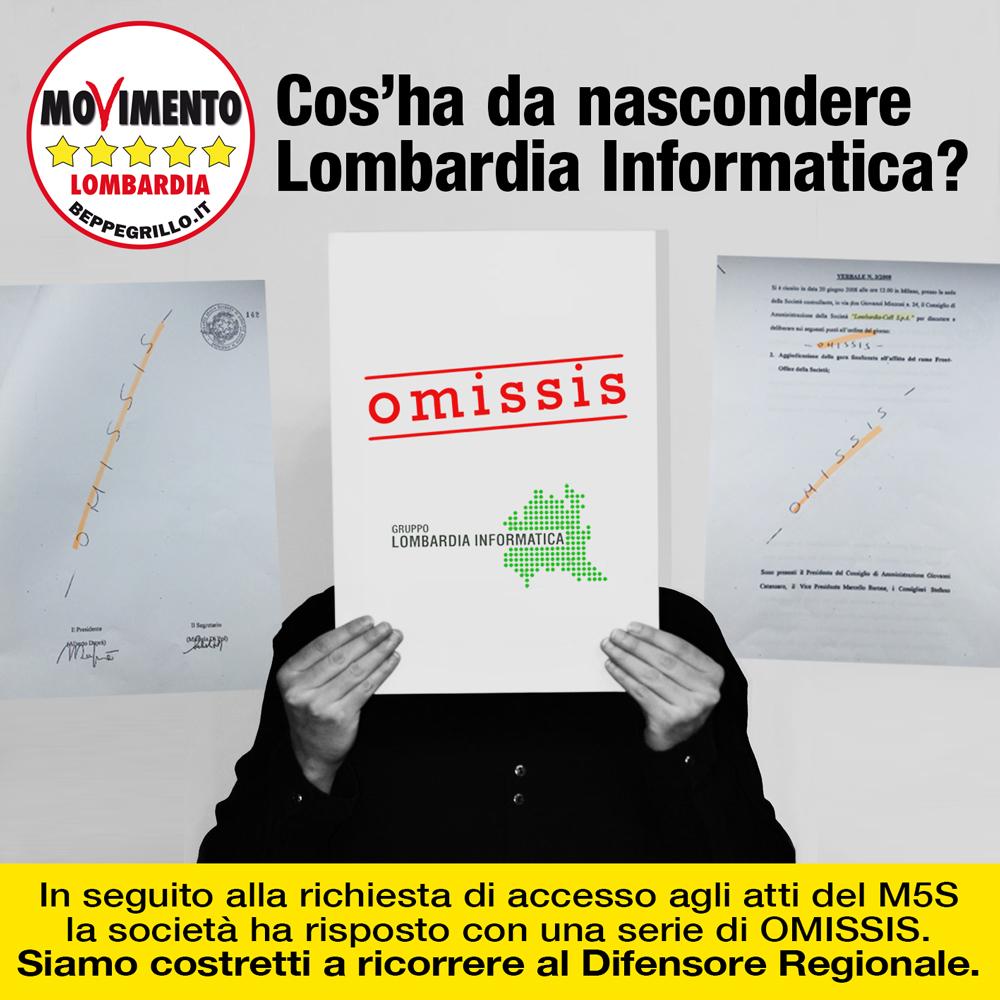 """Tutti gli """"omissis"""" di Lombardia Informatica"""