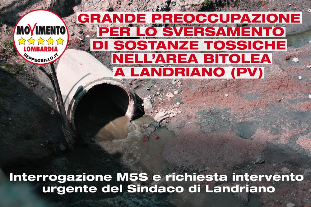 Sversamento di sostanze tossiche nell'area Bitolea a Landriano. Interrogazione di M5S