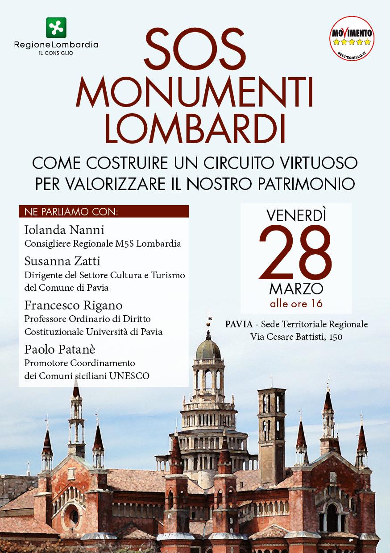 SOS monumenti lombardi, conferenza a Pavia