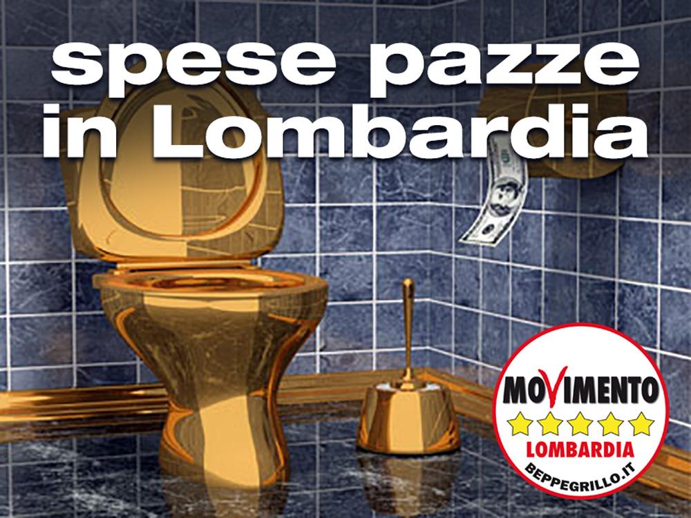 Spese pazze in Lombardia: la Casta restituisca il bottino di oltre 3 milioni di euro