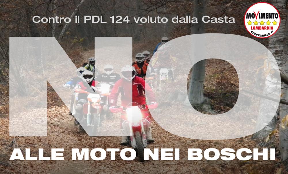Vogliono le moto nei boschi: M5S dice no!