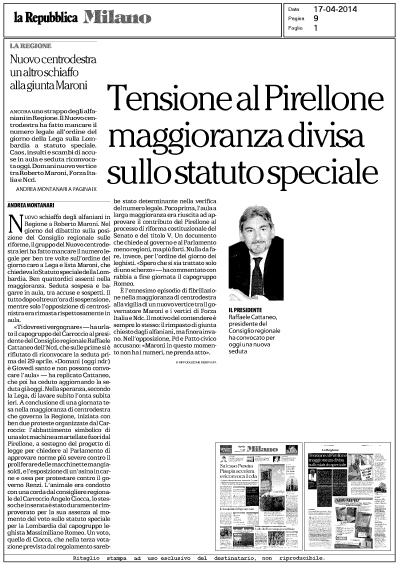 Caos nella Maggioranza: Repubblica Milano ignora M5S