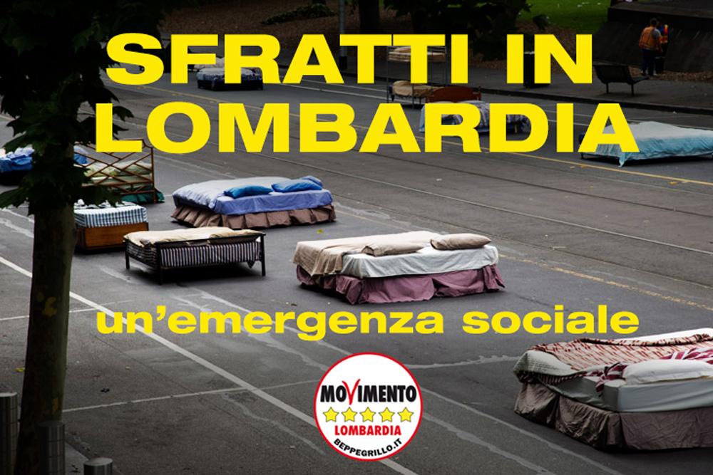 Sfratti: moratoria urgente in  Lombardia