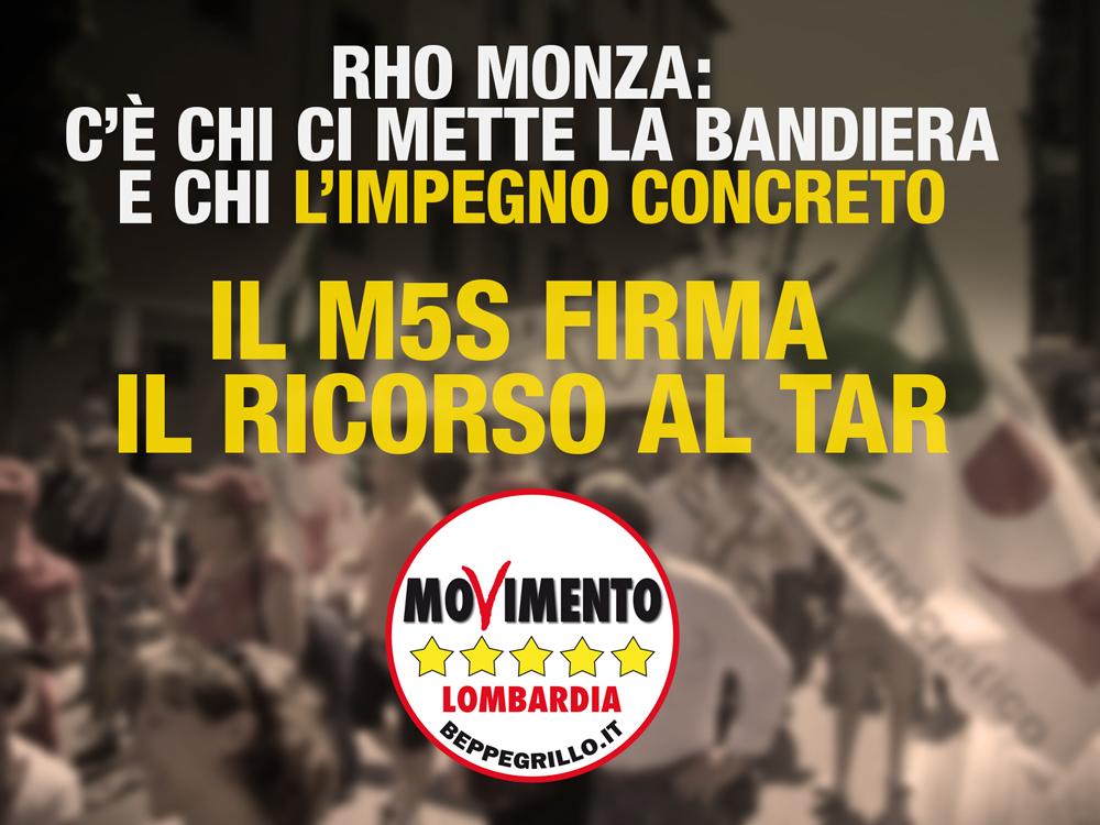 Rho-Monza M5S Lombardia fa ricorso al TAR
