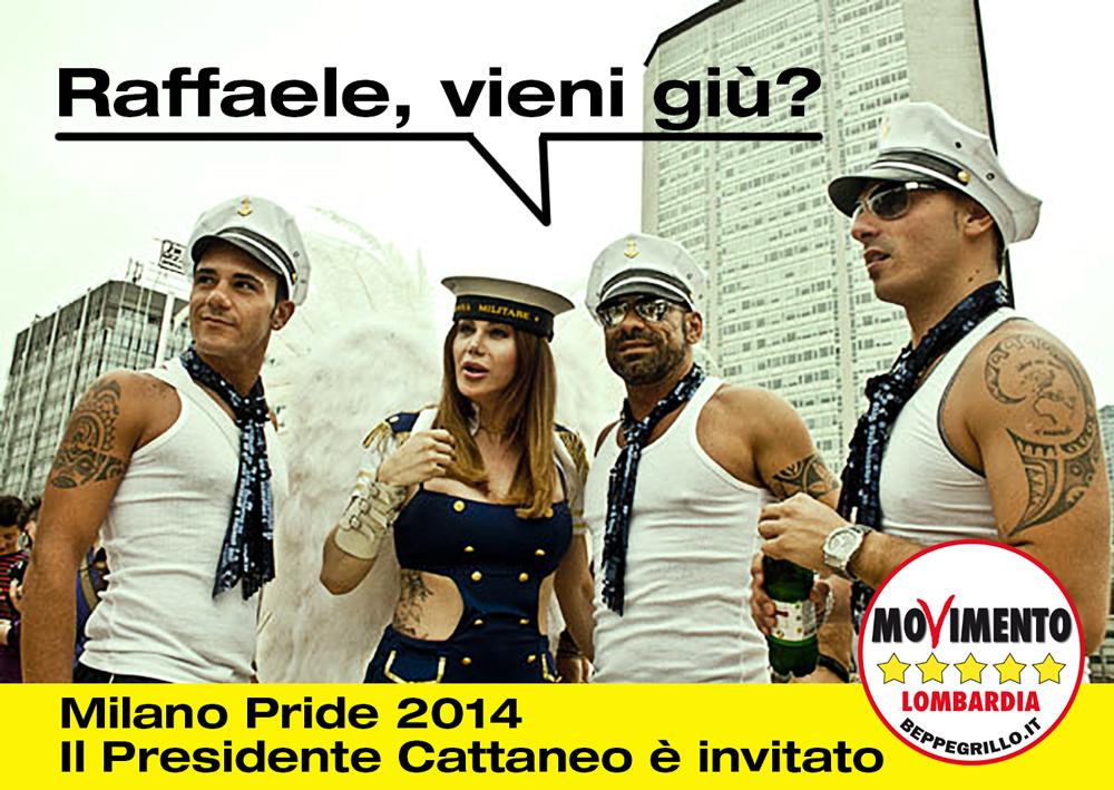 Adesione al Milano Pride 2014. Il presidente Cattaneo partecipi alla manifestazione