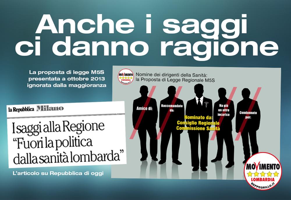 Sanità: fuori la politica dalle nomine, i saggi danno ragione a M5S Lombardia
