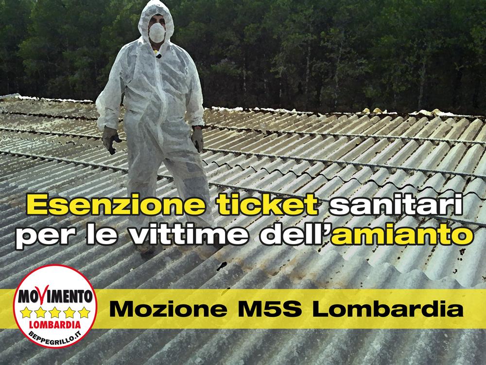 Vittime dell'amianto: M5S Lombardia presenta una mozione per l'esenzione dai ticket sanitari