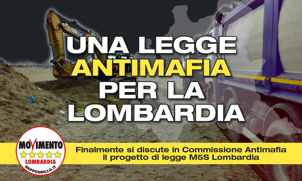 Al via discussione sul pdl regionale antimafia di M5S Lombardia