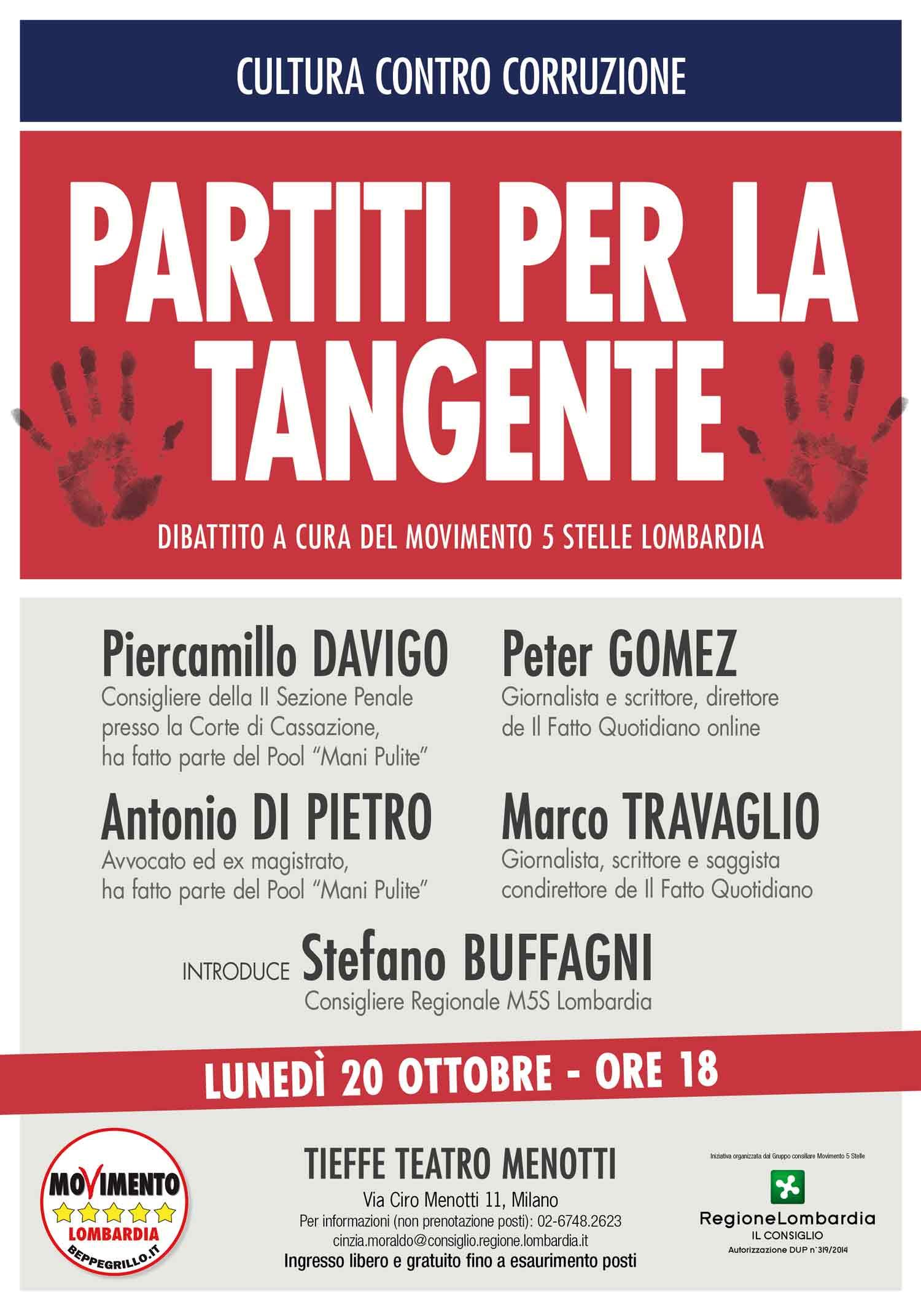 PARTITI PER LA TANGENTE: cultura contro la corruzione al Teatro Menotti