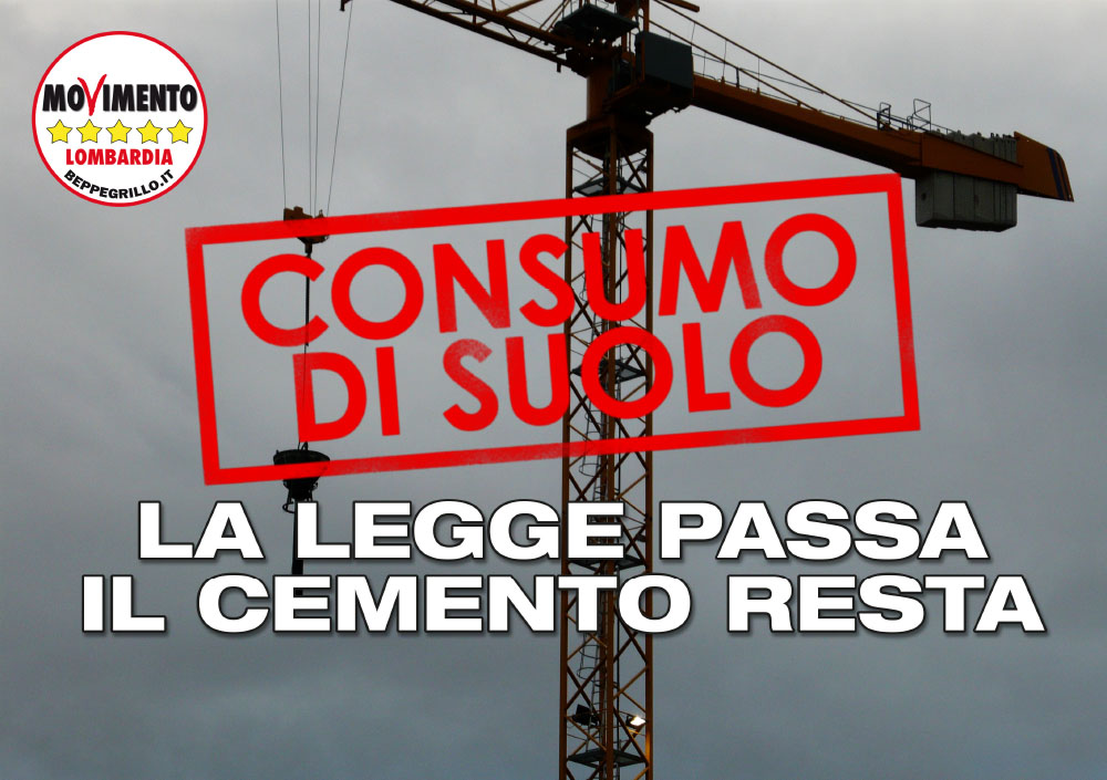 Consumo di suolo: la legge passa, il cemento resta.