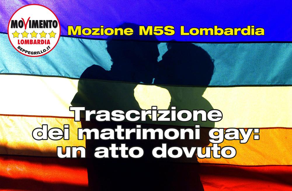 Unioni civili e trascrizione di matrimoni gay: mozione in consiglio regionale