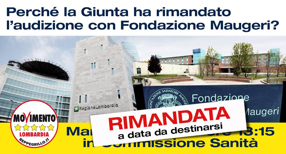 Fondazione Maugeri: trattativa a PORTE CHIUSE. La Giunta Regionale stoppa l'audizione chiesta dal M5S Lombardia