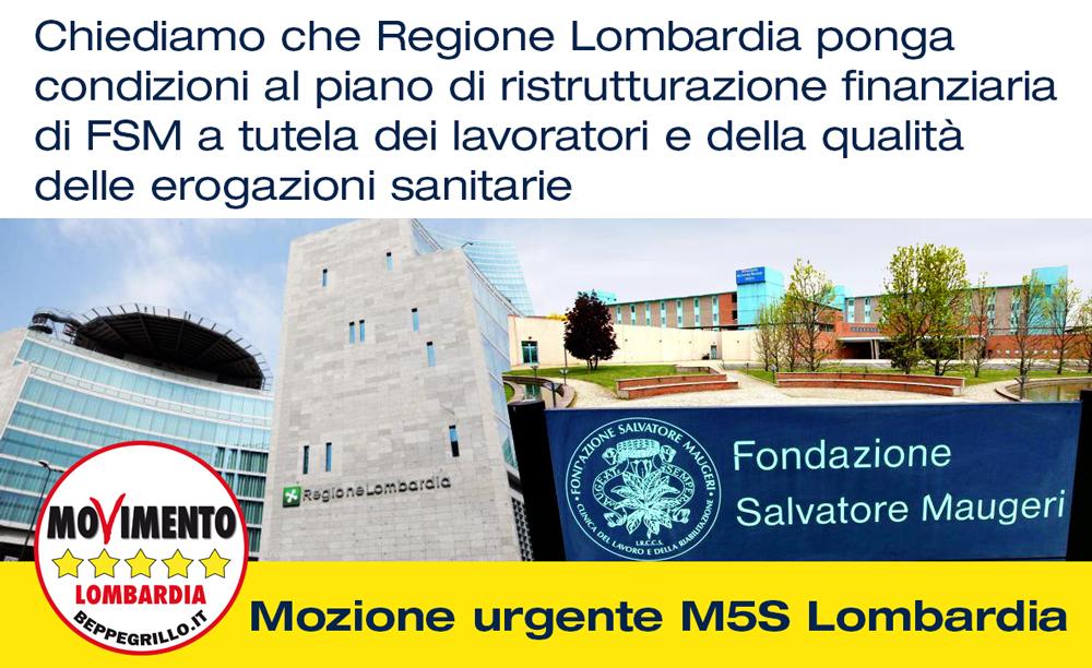 Mozione urgente perchè Regione Lombardia intervenga sul caso Fondazione Maugeri