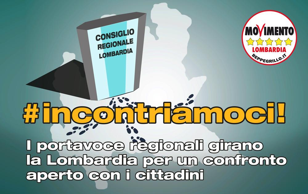 Incontriamoci! Tour dei portavoce regionali lombardi per confrontarsi con i cittadini