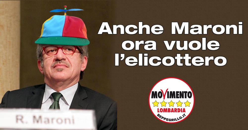Maroni come Renzi, stregato dal volo in elicottero