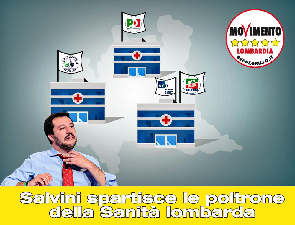 Le mani di Salvini sulla sanità lombarda