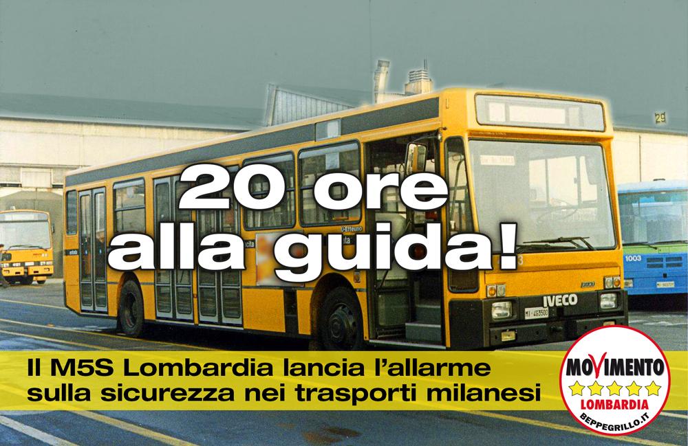 Trasporti a Milano a rischio sicurezza: turni da 20 ore per gli autisti dei mezzi pubblici
