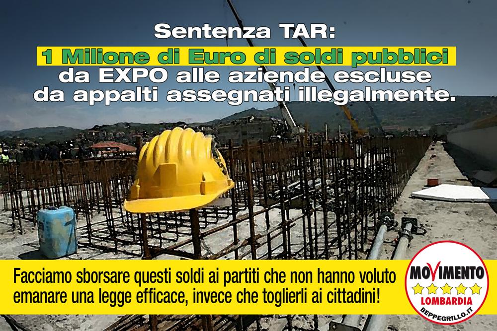 Aziende escluse illegalmente da appalti Expo: arriva la sentenza del TAR