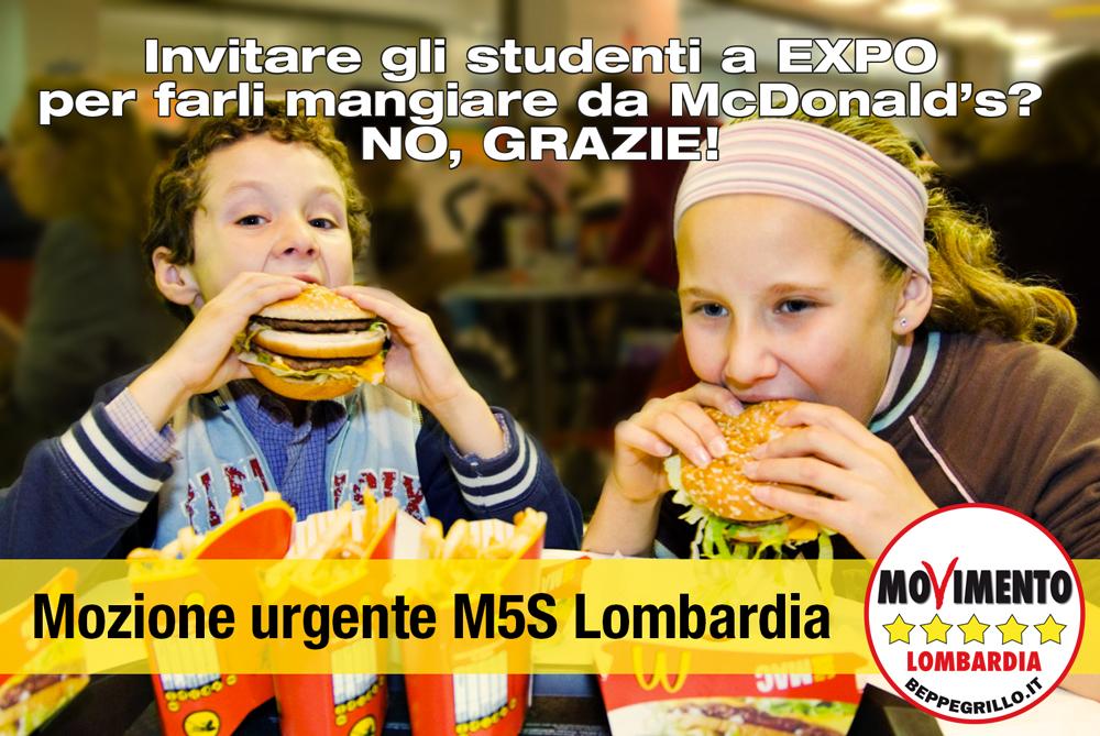 McDonald's: fermare l'iniziativa. Aprea faccia l'assessore e non la promoter. Interrogazione del M5S