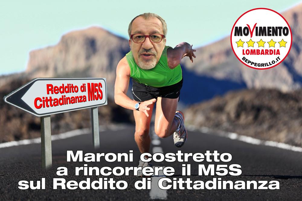 Dopo la marcia per il #Redditodicittadinanza Maroni si sveglia dal letargo