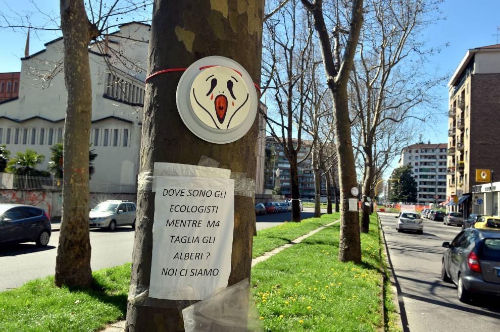 """Milano, Venerdì 26 giugno: visita dei parlamentari M5S al cantiere M4  di viale Argonne. Il 3 luglio """"la notte degli alberi"""""""