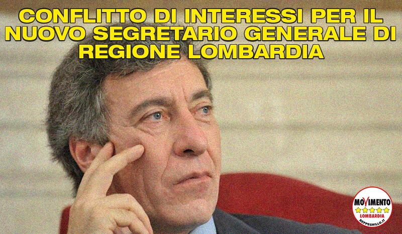 La Lombardia ha un segretario generale in conflitto di interesse