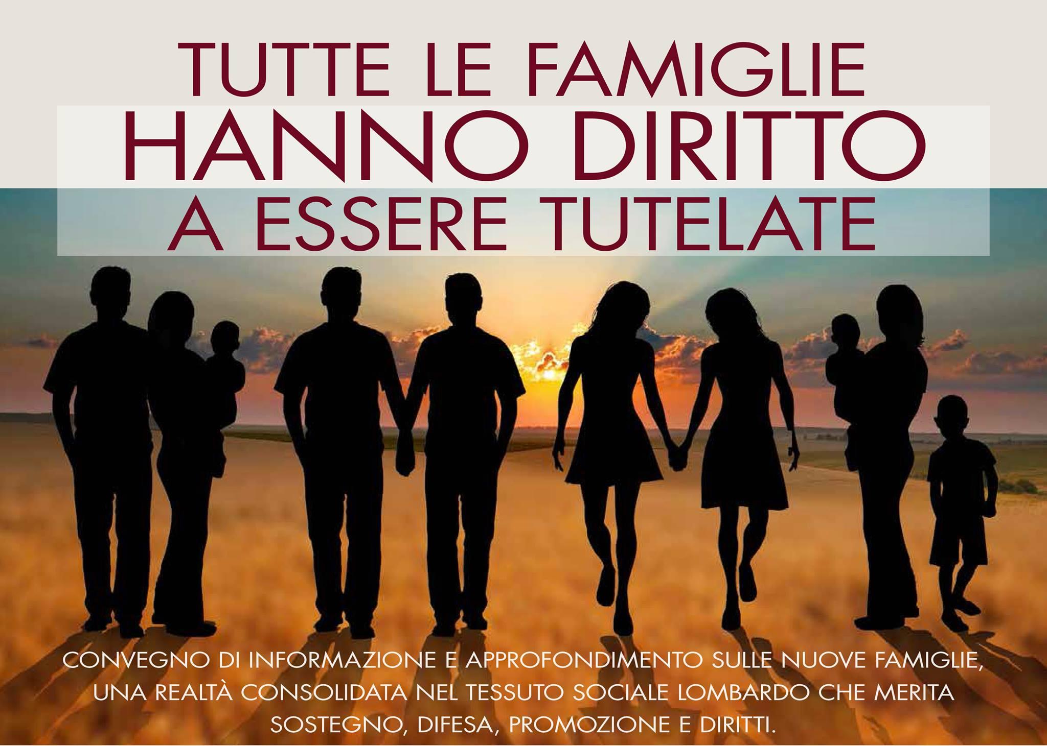 La Lista Maroni vorrebbe tappare la bocca alle famiglie omosessuali e monoparentali sospendendo il convegno sulle famiglie del M5S Lombardia: non tolleriamo veti discriminatori