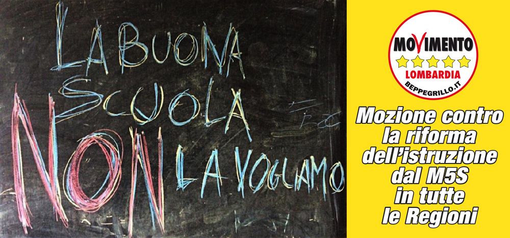 Mozione M5S contro la riforma dell'istruzione di Renzi