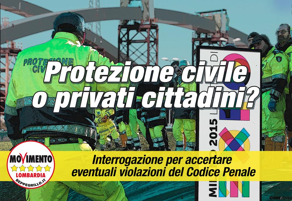 Expo e Protezione Civile. M5S Lombardia chiede accertamenti sul reclutamento