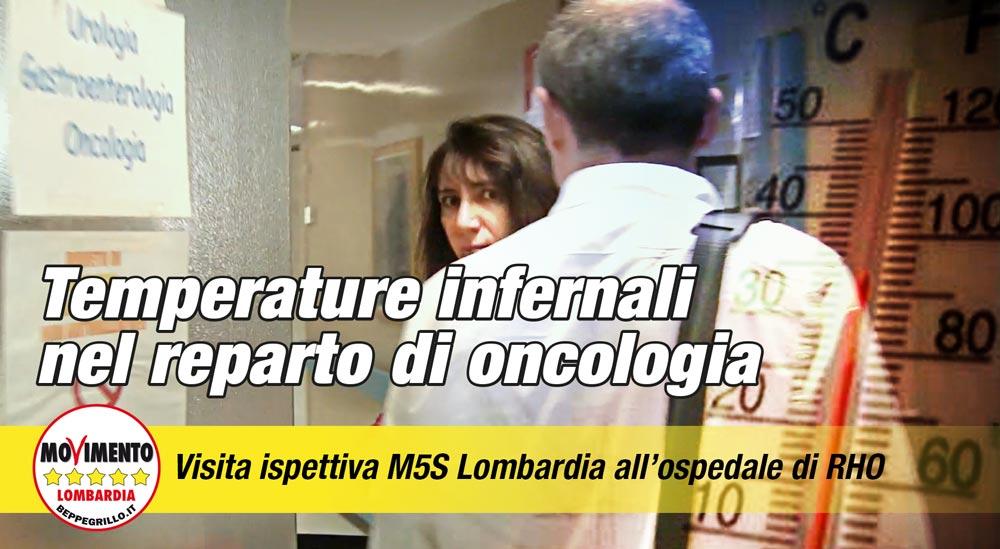 Stanze a 30 gradi: portavoce M5S visitano l'ospedale di Rho