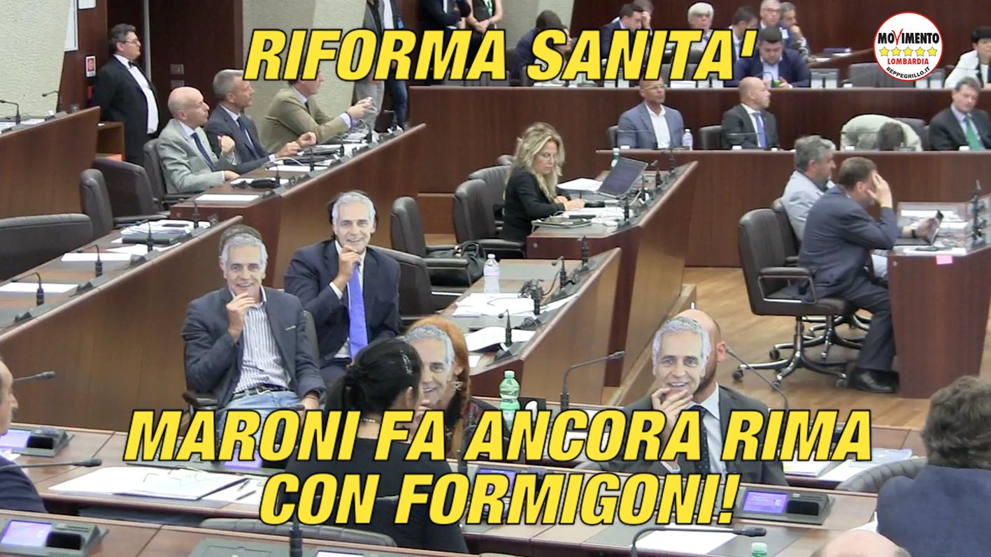 """Sanità: barricate M5S in aula contro la """"riforma truffa"""" di Maroni-Formigoni"""