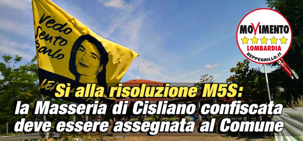 Mafia. La Masseria di Cisliano deve essere tutelata, sì a una risoluzione del M5S Lombardia