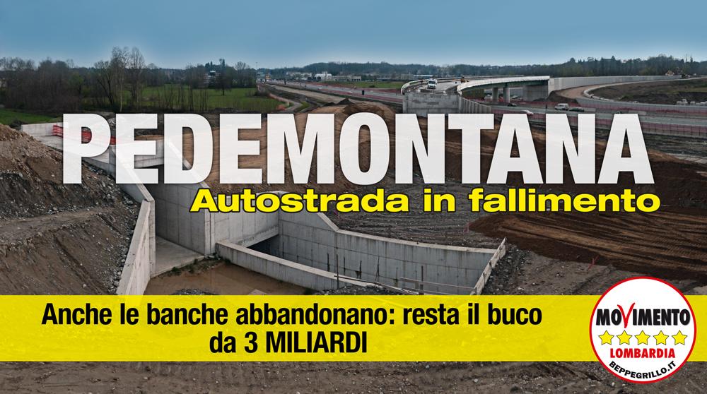 Le banche abbandonano Pedemontana: resta il buco da 3 miliardi di euro