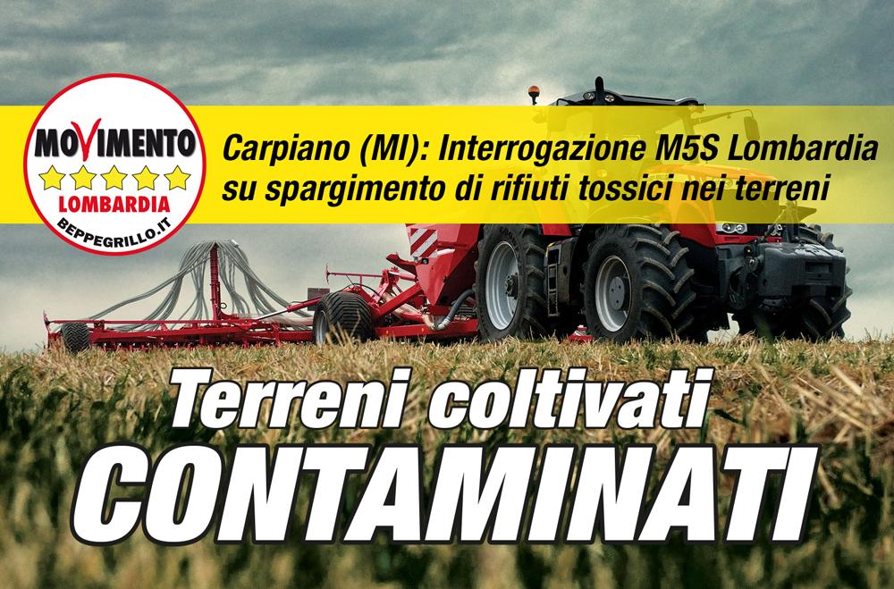 M5S denuncia terra dei fuochi lombarda: sversamenti pirata su 12 ettari di terreni contaminati e attualmente coltivati