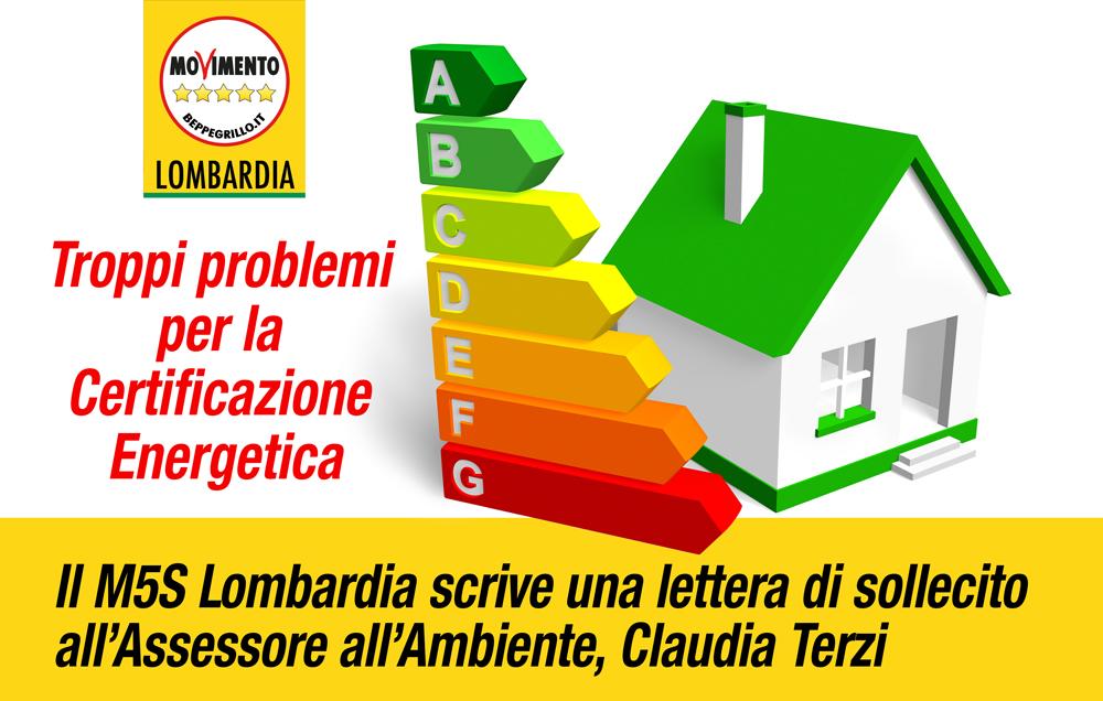 Problemi per le certificazione energetiche degli edifici in Lombardia: M5S scrive all'Assessore