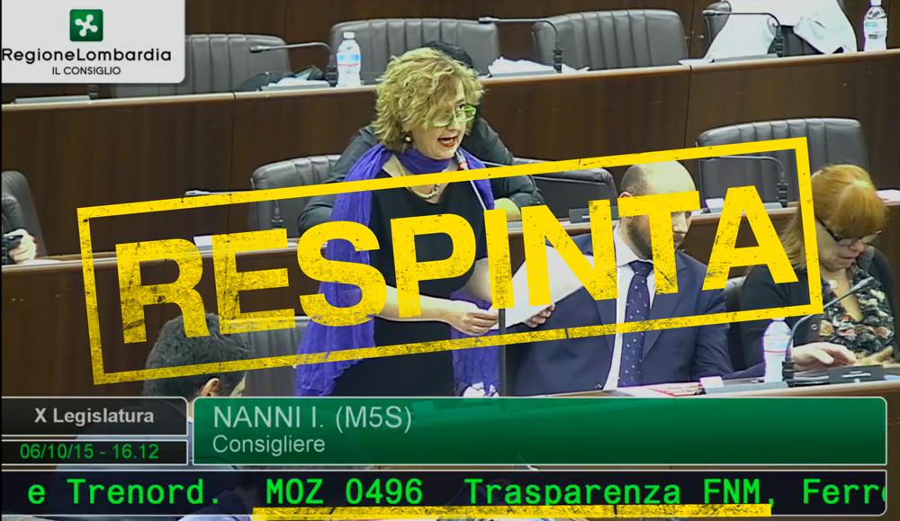 Il Consiglio Regionale e la Giunta votano CONTRO la trasparenza di Trenord, FNM e FerrovieNord