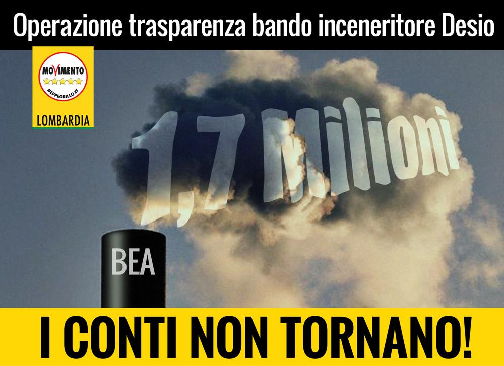 Operazione trasparenza bando inceneritore Desio: i conti non tornano!