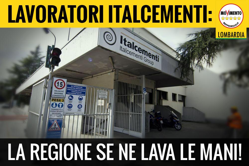 La Regione abbandona i lavoratori di Italcementi