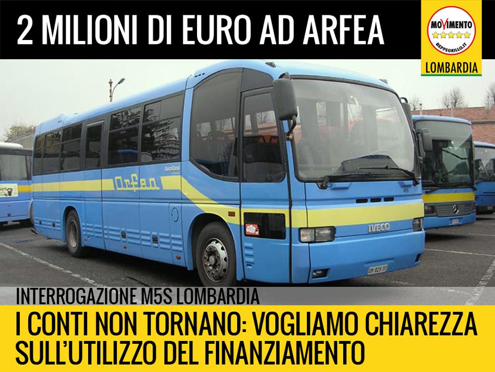 Due milioni di fondi pubblici ad ARFEA ma i conti non tornano. Interrogazione M5S