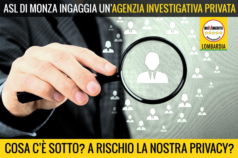 L'ASL di Monza ingaggia un'agenzia investigativa. I nostri dati sono a rischio?