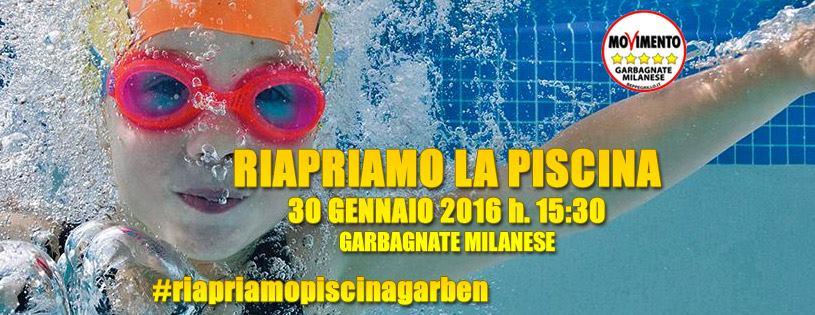 Garbagnate Milanese. Flash Mob: riapriamo la piscina Garben