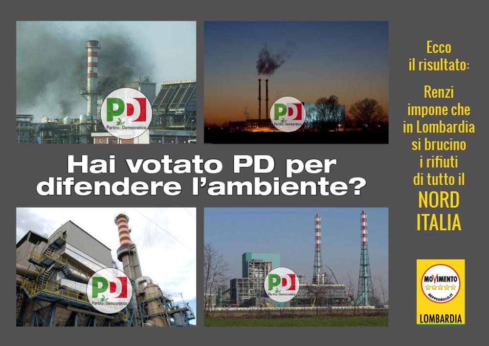 """Renzi trasforma la Lombardia nella """"terra dei fumi"""""""