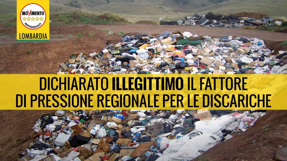 Dichiarato illegittimo il fattore di pressione regionale per le discariche