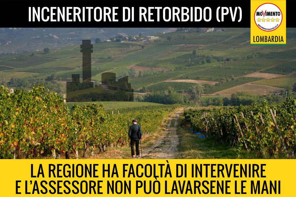 """Impianto di pirolisi a Retorbido: arriva la risposta """"pilatesca"""" dell'Assessore Regionale all'Ambiente alla terza interrogazione del M5S Lombardia"""