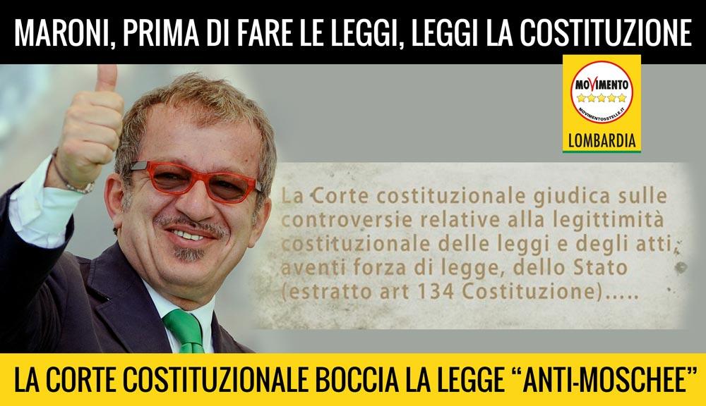 Corte Costituzionale boccia legge anti-moschee: la Lombardia torna nella Repubblica Italiana e in Europa