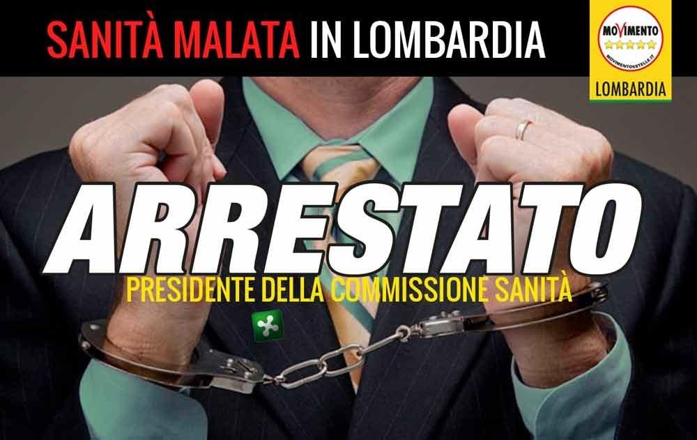 #SanitopoliLombardia: arrestato il presidente della commissione sanità. Ora andate a casa.