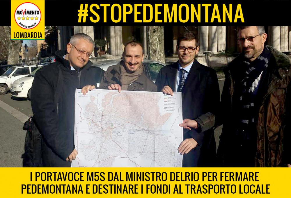#StopPedemontana. M5S incontra Delrio: opera inutile e su un binario morto